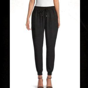 Calvin Klein black elastic waist & ankle Satin S